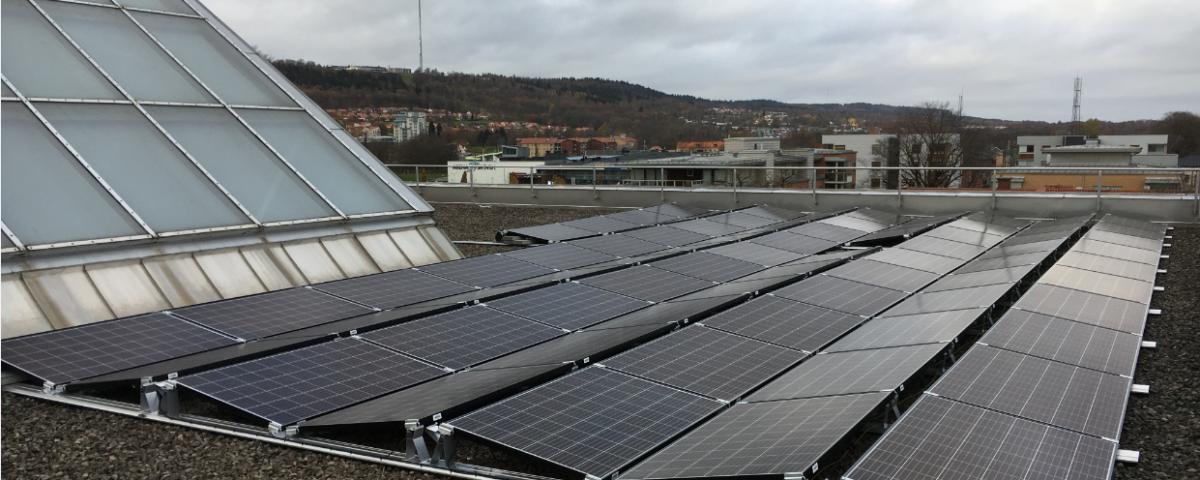 Solceller på Stadshuset i Skövde